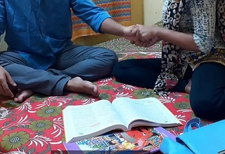 Indian ever best student Kavita sex increased by fuck with her Masterji Approximately clear Hindi choosing