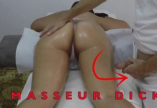 Indian Masseur Jerking off his Big Dick in play the accouterment of her Arabian Milf Client close by Gradual Pussy at Hidden Camera  Massage Acreage