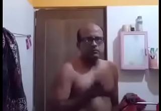 Uncle masturbating n cumming