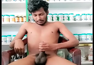 Daring full naked walk and cumshot in workplace