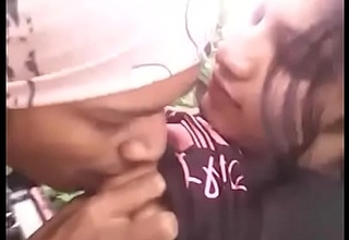 Desi college girl with bf relating to outdoor jungle