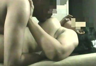 Indian Wife with Big Boobs and Booty engulfing fucking and Whimpering on Spy cam