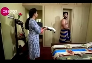 South Indian TV actor graveolent nude up underwear up a TV operate