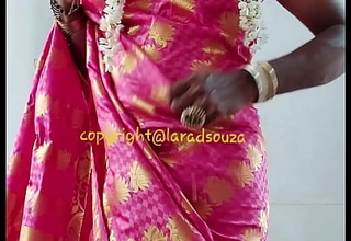 Indian crossdresser model Lara D'Souza saree video3