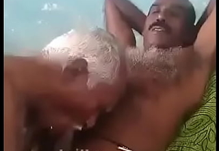 Indian grand pa sucking uncle