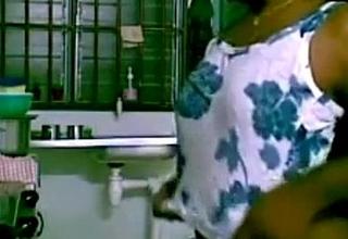 Indian sex pair hardcore in kitchen