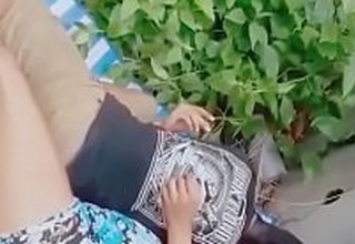 Indian Men and Girl caught fucking in small grid-work