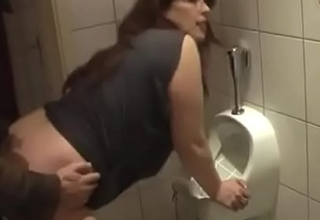 German Mummy get good Fuck from Young Guy on the toilet