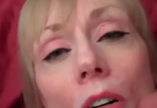 Cum On Her Face Makes Grandma Smile