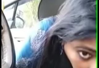 Malayali aunty giving oral job inside car