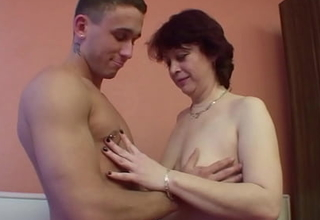 Horny Female parent with Muted Pussy Seduce StepSon to Fuck her