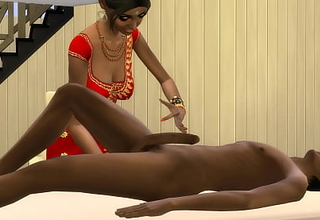 INDIAN Dam GIVES A Rub-down TO HER VIRGIN SON TO FEEL BETTER AFTER A HARD DAY'S WORK - Indian Sex