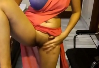 Indian Amateur In Saree Showing Her Bald Virgin Pussy