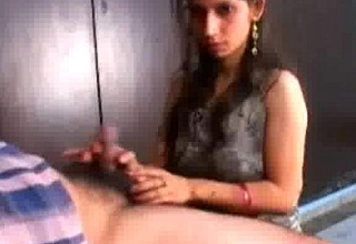 Indian Girl with her own uncle blowing