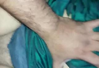 Vijji boob press and fuck in dark green saree