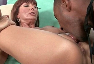 Milfs Desi Foxx and Dorothy suppuration a hard cock on their exposure
