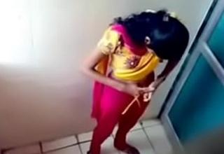 Hidden cam in ladies bathroom girl pissing