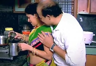 Indian Housewife Enticed Boy Neighbour uncle in Kitchen - YouTube.MP4