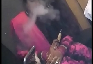 Smoking Freshly Married Hot-Girl Taking Hookah!