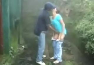 Indian Couple Fuck In The Rain