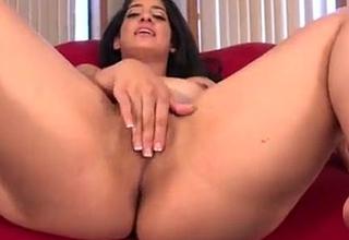 Nadia Ali playing with Black white dicks
