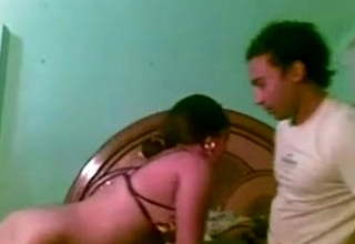 Naughty Bengali juvenile wife bends over for her hubby