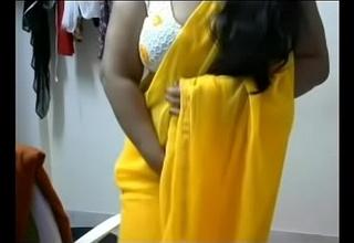 Horny chubby bosom Telugu aunty having fun