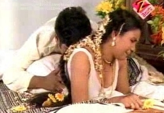 Telugu lodging filthy doxy Fixed partial to slut 1st night hot couch room scen...