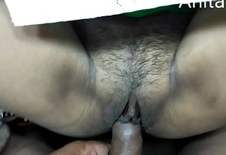 Desi college girl fucking by teacher relative to  Hindi audio
