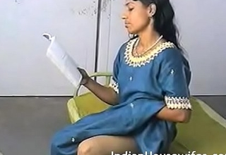 Amateur Indian Housewife Reading Dirty Magazing And Rubbing Slit