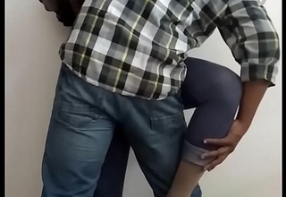 Office Coitus - Horny Indian Shemale Slut Manusha exposing on livecam with a colleague