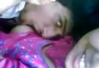Desi Girl Diya Boobs Sucked at Char up Place
