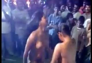 Desi beauties open nude dance in public