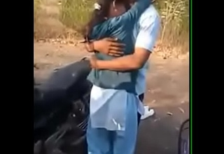 India kissing together with mating in garden
