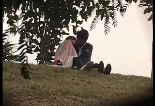 Indian lover kissing with reference to woodland part 2