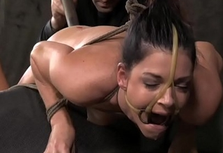 BDSM sub India Summer ass toy plowed