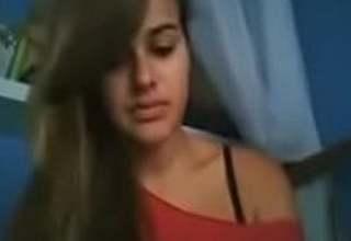 Cute Indian teen making unclothed video