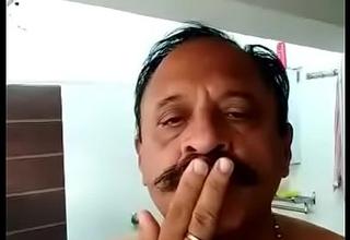 INDIAN Venerable MAN TAKE BATH