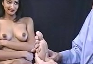 Hot Indian prostitute loves to win pussy eating aloft dramatize expunge chair